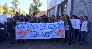 Treballadors de l'empresa Eulen en protesta per un ERE