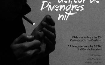 """Oriol Veciana presenta """"Relats del cor de Divendres nit"""""""
