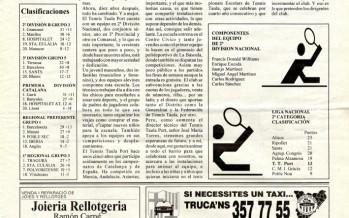 """""""El Tennis Taula Port és un dels clubs de major projecció a Barcelona"""" (febrer, 1994)"""