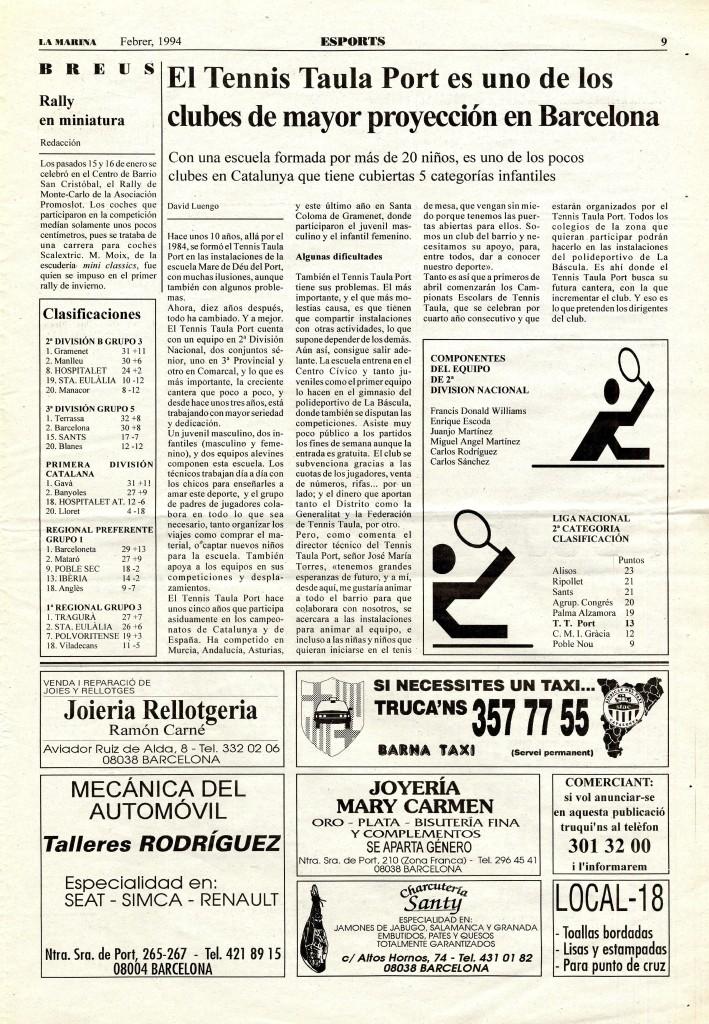 1994 febrer tennis taula port esport