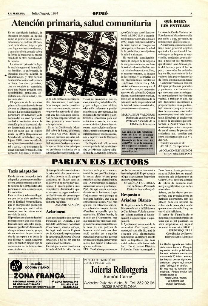 1994 juliol article atenció primària cap salut comunitària