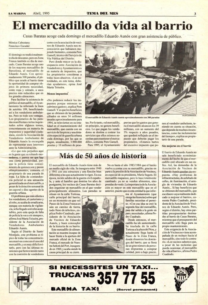 1995 abril mercadillo públic eduard aunós cases barates