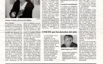 """""""Educació en drets humans, una aposta pel futur"""" (setembre, 1997)"""