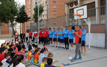 Exjugadors del Barça al barri