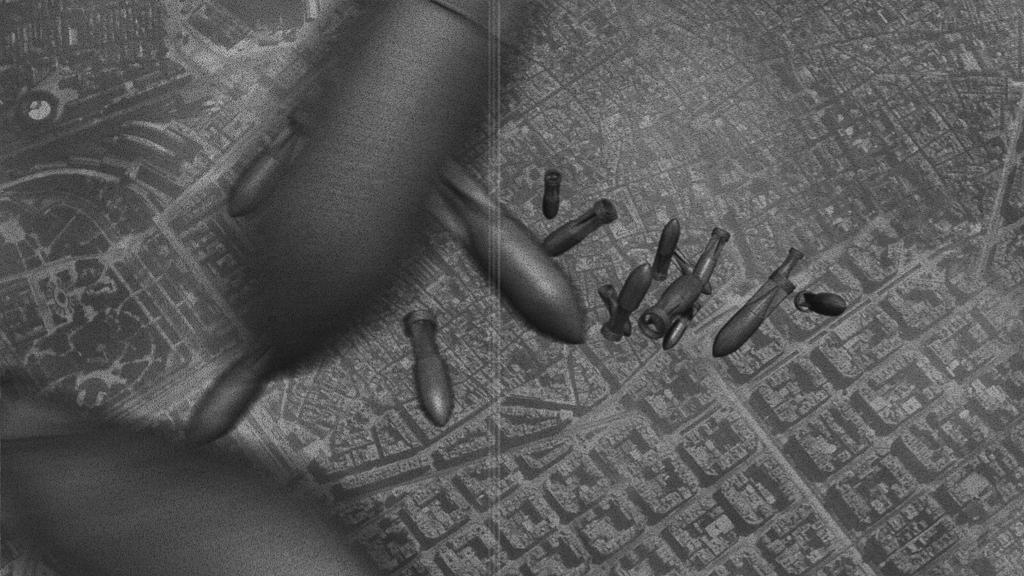 Bombes en raïm. Atac i bombardeig sobre Barcelona durant la Guerra Civil, vist des d'un avió italià. 2011. Arxiu Històric de Santa Eulàlia de Provençana.