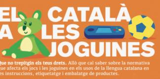 """""""El català a les joguines"""". Imatge de Plataforma per la Llengua"""