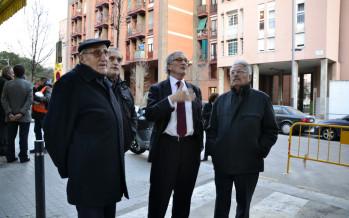 L'alcalde Trias visita Plus Ultra-La Vinya per destacar l'actuació de l'Ajuntament al districte