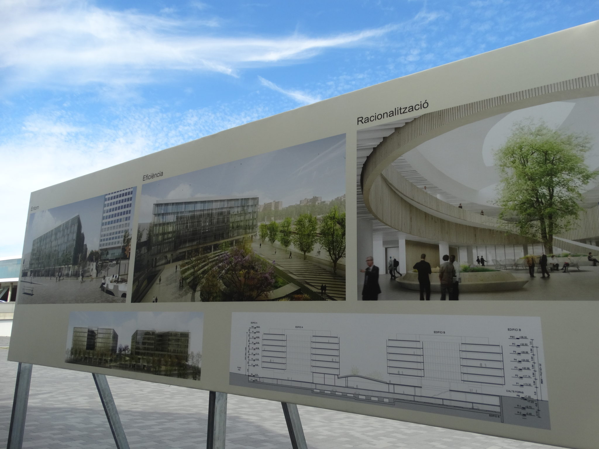 Projecció dels nous edificis que es construiran