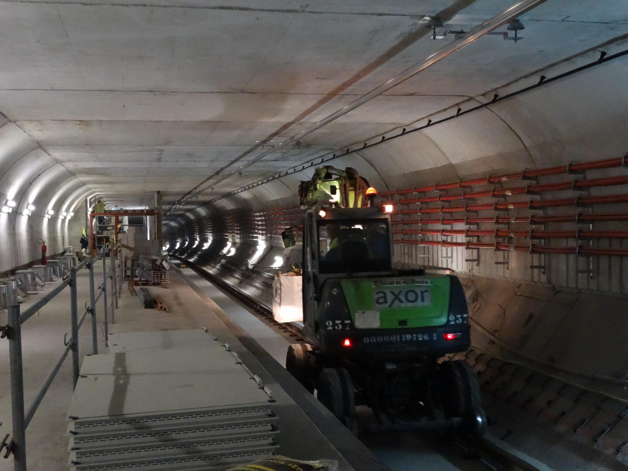 Les obres del metro en marxa.