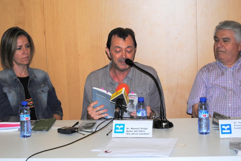 L'autor Manuel Veiga durant la presentació del llibre 'Els altres Candels'