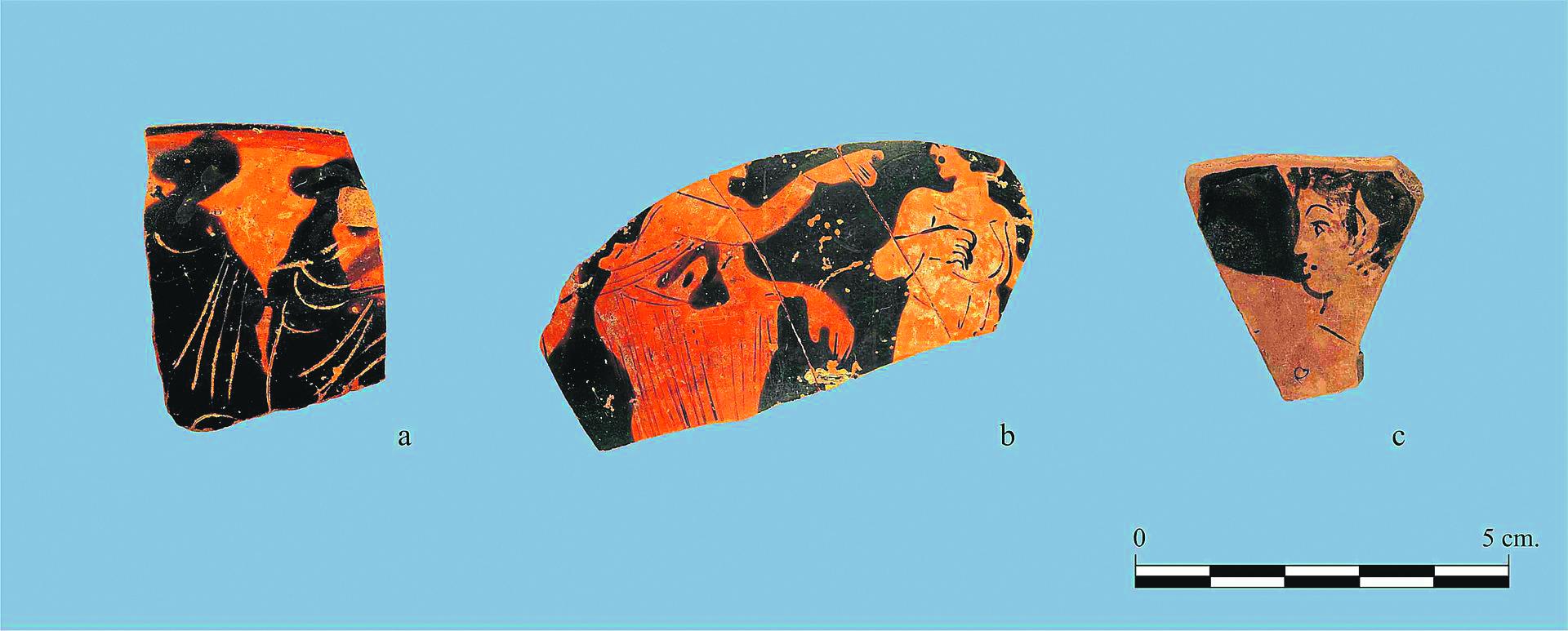 Fragments de ceràmiques àtiques gregues. 1990. Wikiwand.
