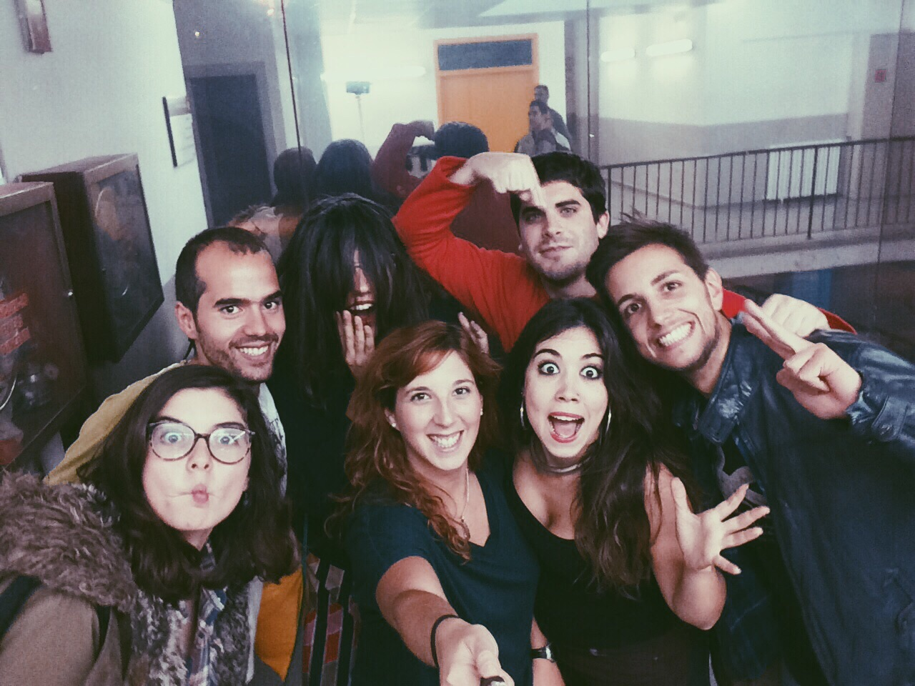 Angela Sánchez, jordi Roca, Senyoreta X, Silvia Depares, Araitz Pippers, Gabriel Coromines i Hector Nistal