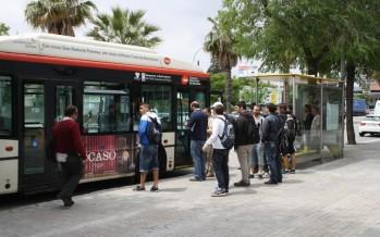 Reducció de freqüència d'autobusos durant el mes d'agost