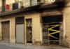 Façana cremada del número 25 del carrer Canalejas de Barcelona, el 17 de gener de 2016 . Fotografia: CCMA